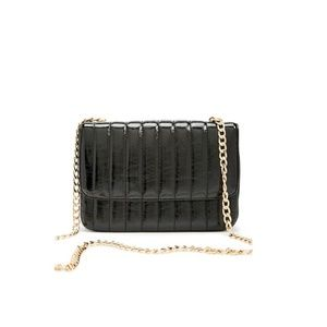 QUILTED BLACK PURSE - 0324